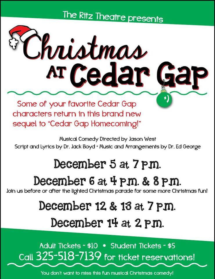 Christmas at Cedar Gap