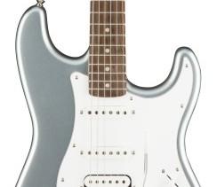 Fender Squier Affinity Series Stratocaster HSS Guitar - Laurel Fingerboard, Slick Silver Bundle