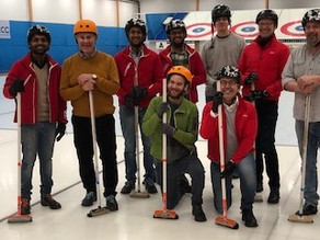 Today we taught our Indian offshore team how to play curling