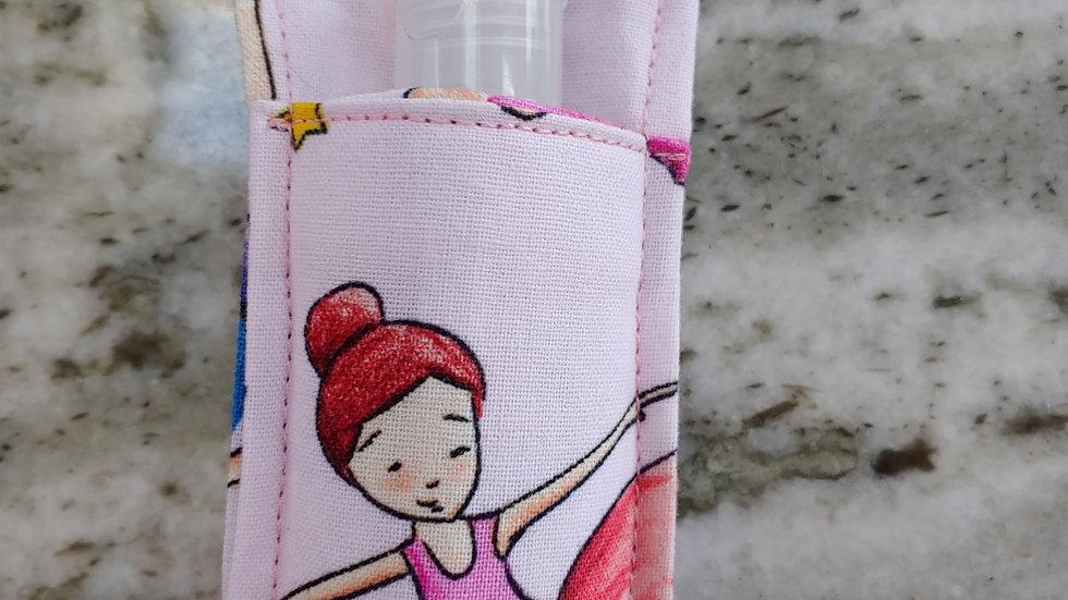 Ballerina print hand sanitizer holder
