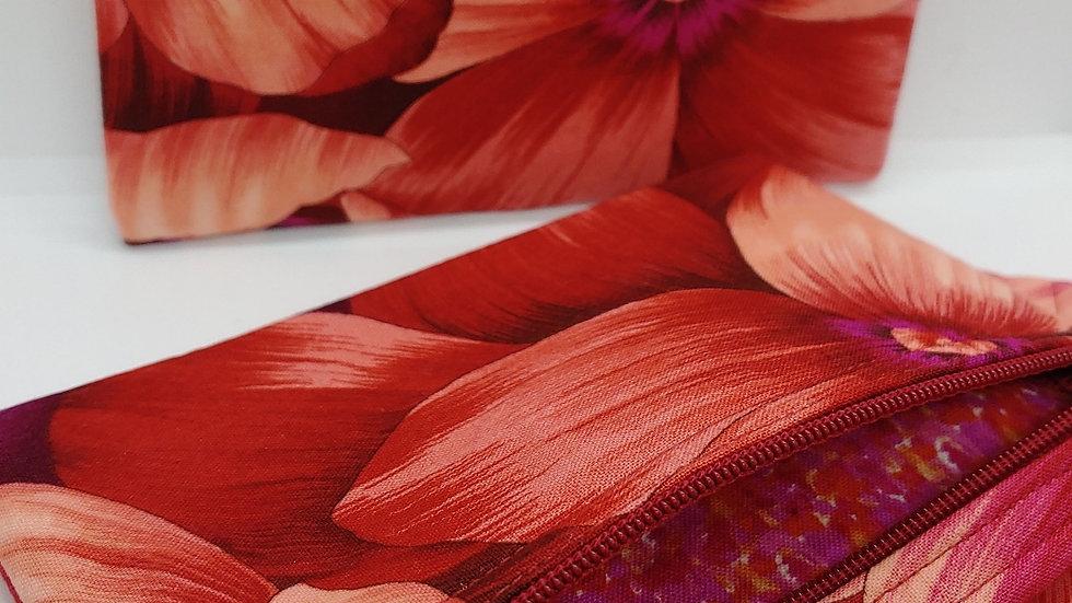 Crimson and purple flowers