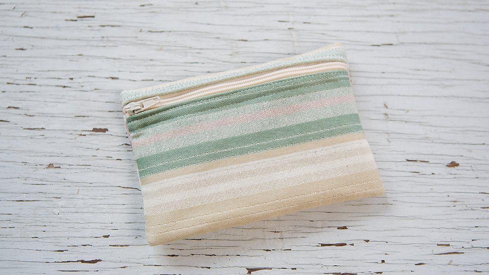 Striped Canvas EO Pouch