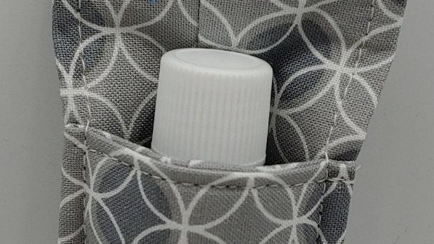 Gray hand sanitizer holder