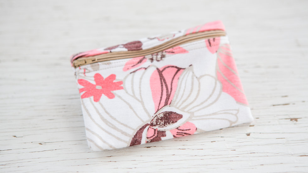 Floral Shades of Pink EO Pouch