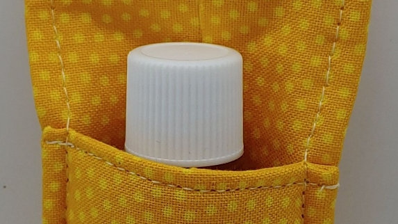 Yellow mini dot hand sanitizer holder