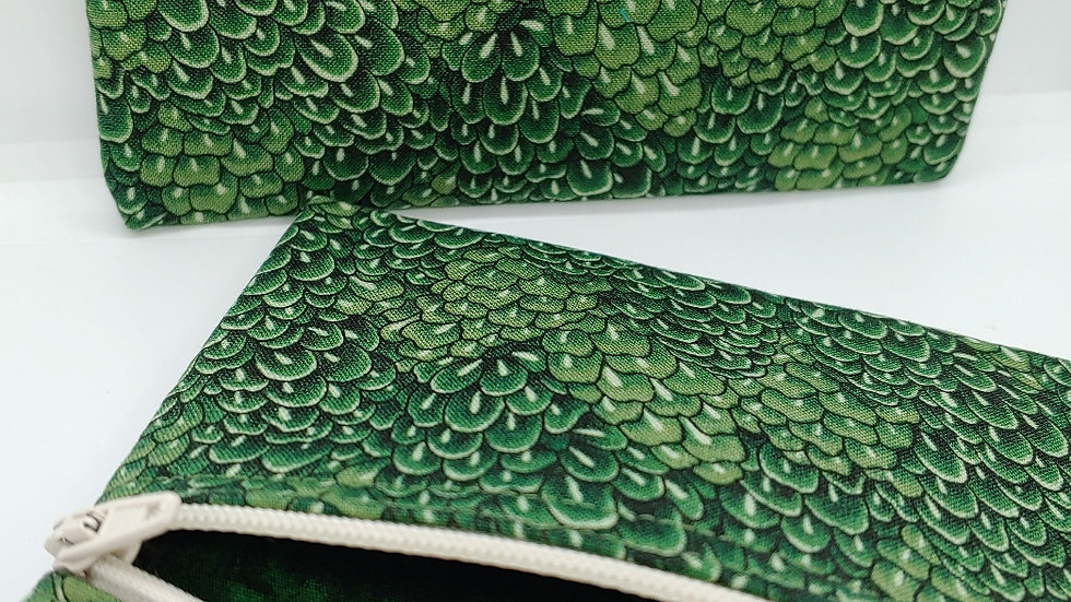 Shades of green pouch