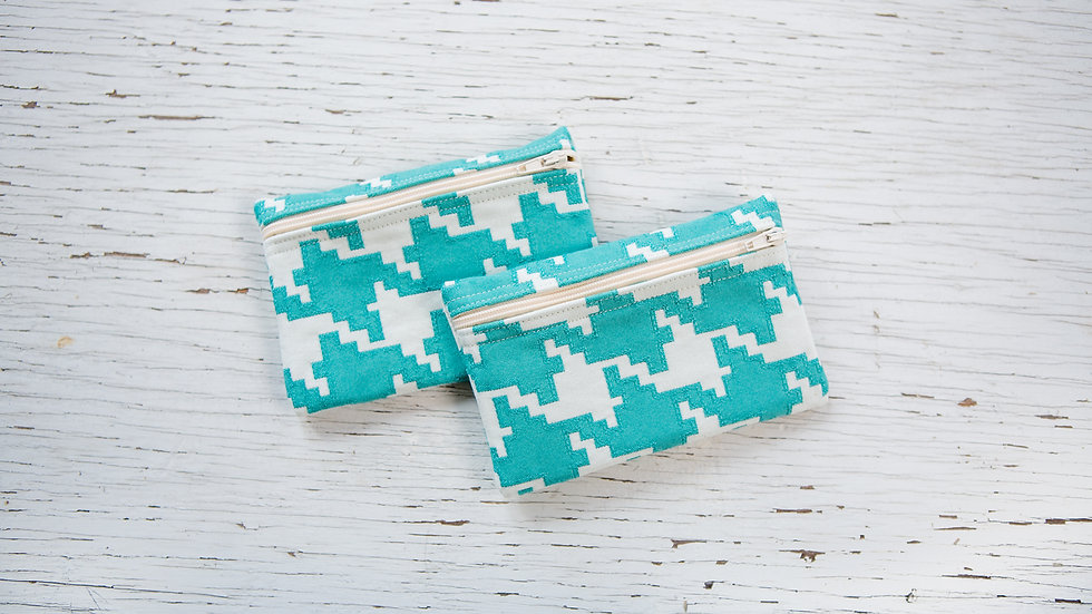 Green and Ivory Pixels EO Pouch