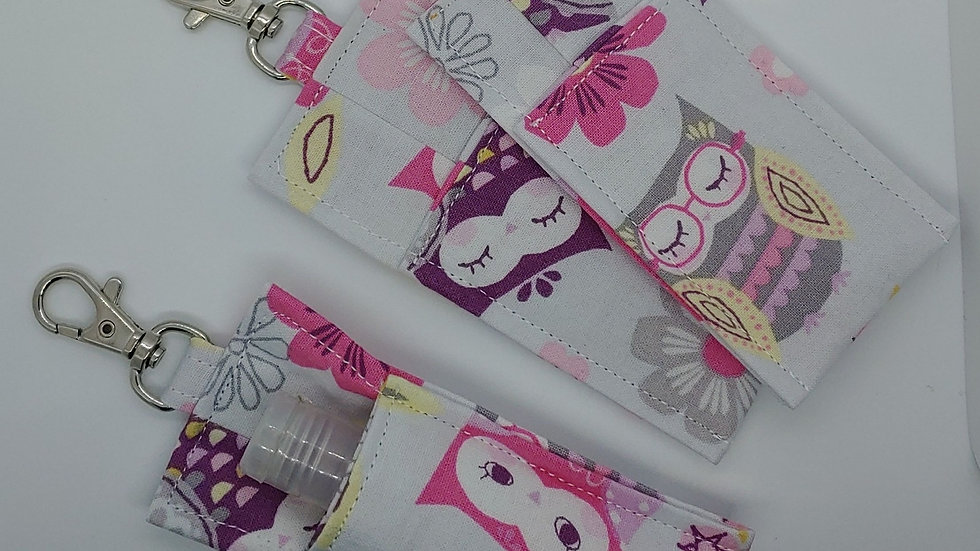 Pink and purple owls