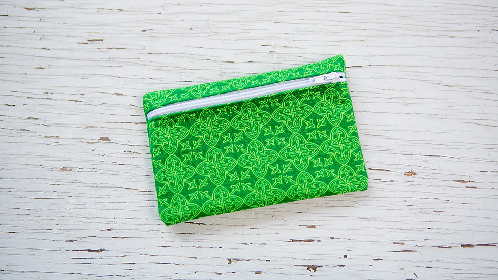 Bright Green Celtic Print EO Pouch