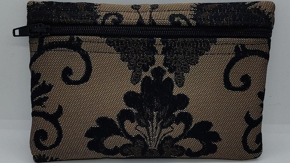 Black designed pouch