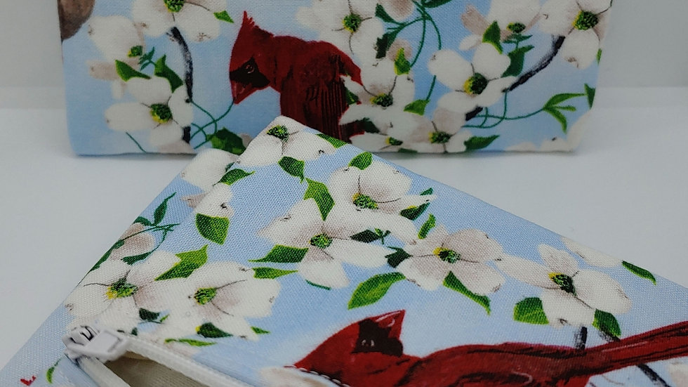 Dogwood and Cardinal pouch