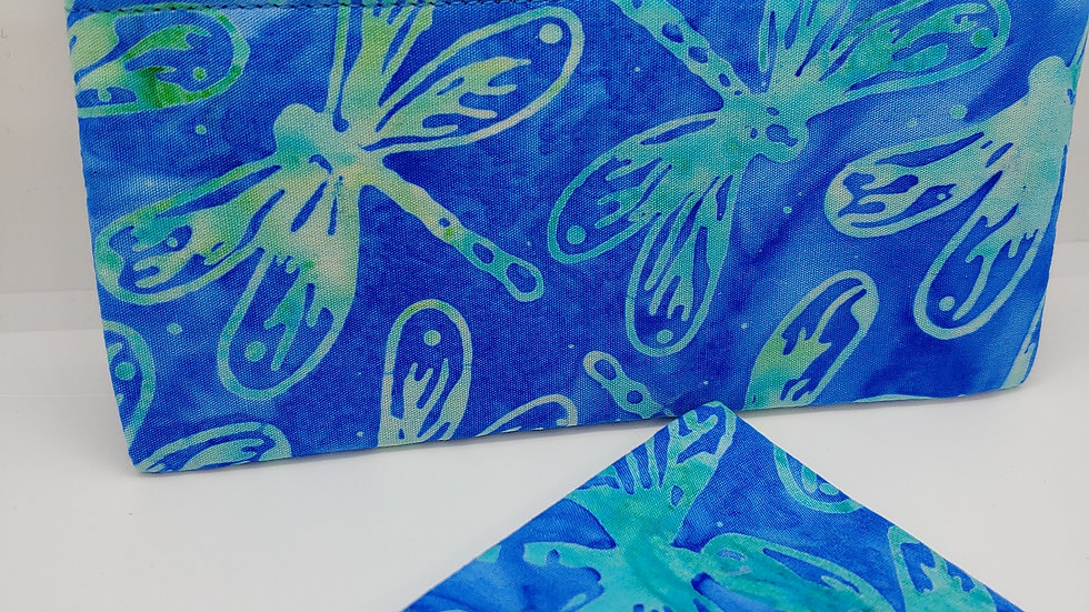Dragonflies in green pouch