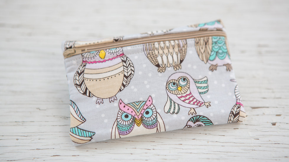 Owl Family EO Pouch