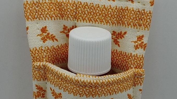 Orange flower hand sanitizer holder
