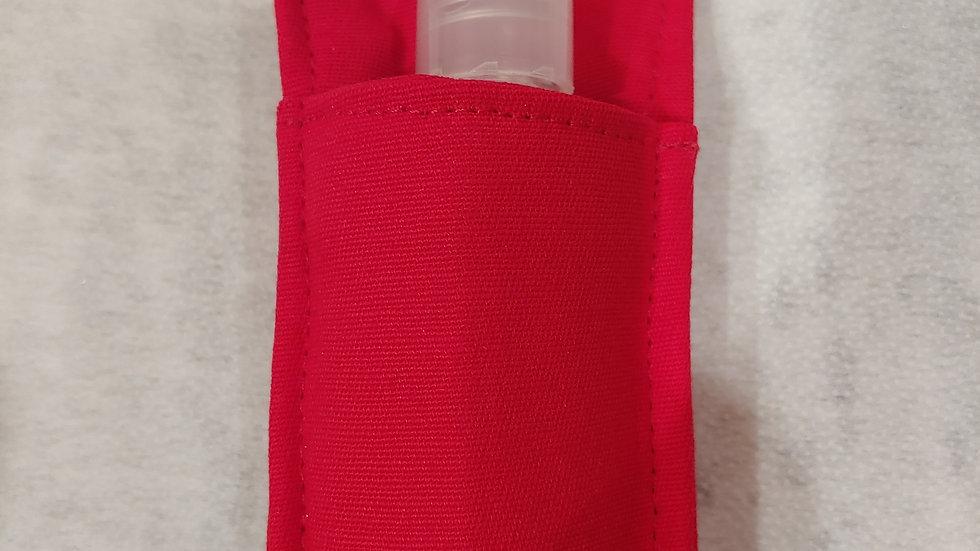 Solid red Hand sanitizer holder