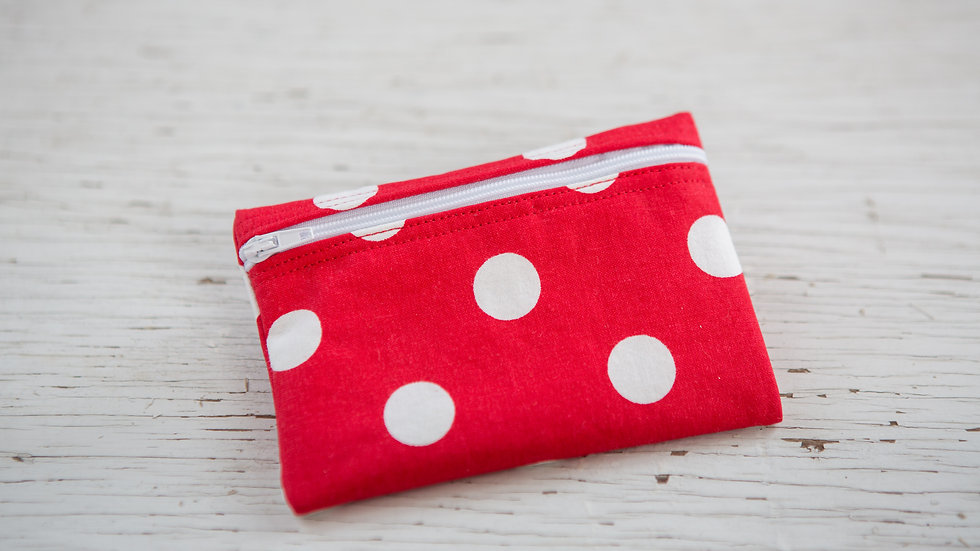 White on Red Polka Dots