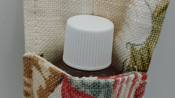 Flowered hand sanitizer holder