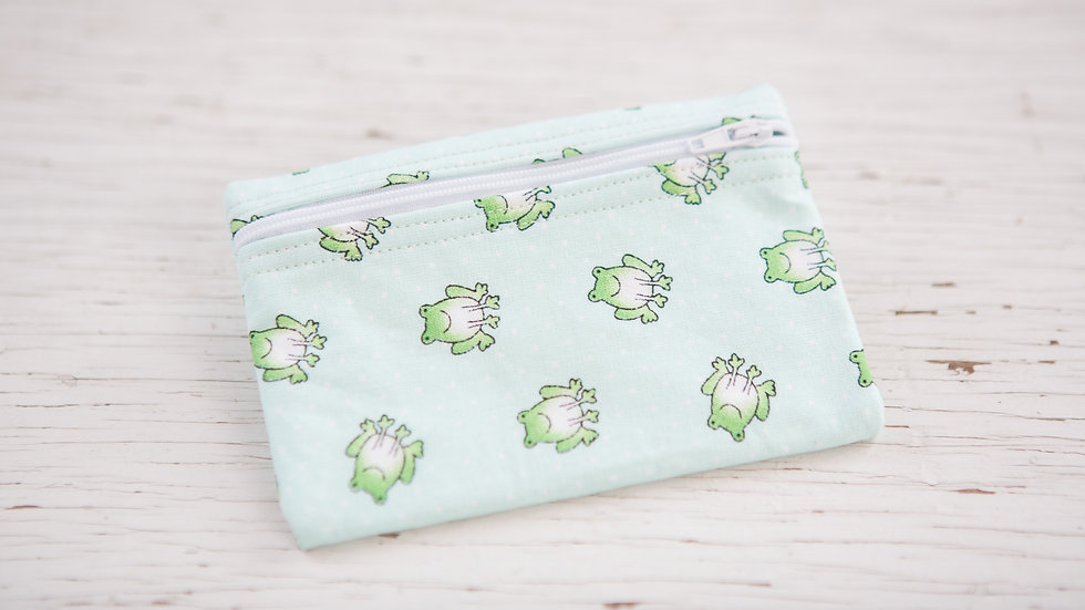 Sea Green Frog EO Pouch