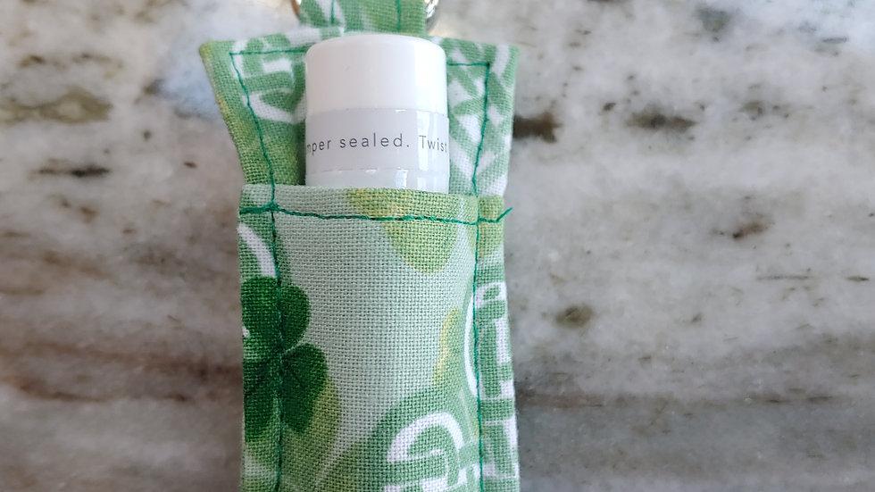 Celtic print lip balm holder