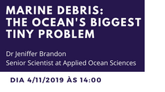 "Palestra ""Marine Debris: the ocean's biggest tiny problem"""