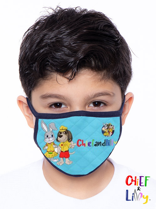 Chief & Lilly Face Mask - Blue