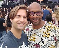 Mike Russell and husband celebrating Gay Pride in Atlanta, GA