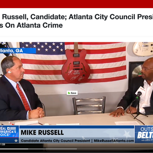 TV interview with Mike Russell