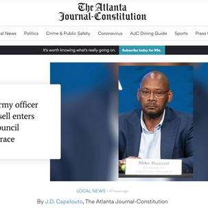 AJC covers Mike entering race for City Council President