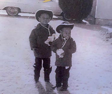Mike Russell and his brother as children