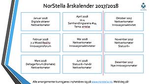 NorStella årskalender 2017