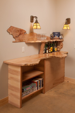 Becket House Custom Bar