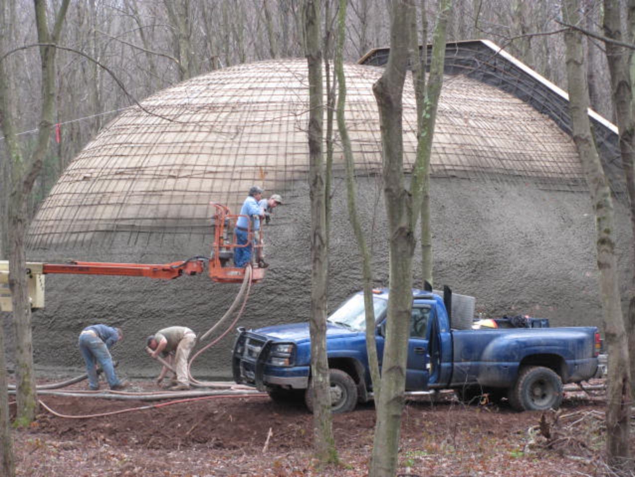 Earth Covered Dome House in Process