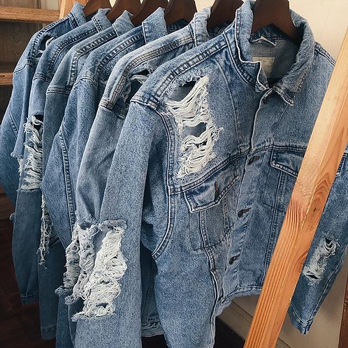 JACKET RIPPED JEANS