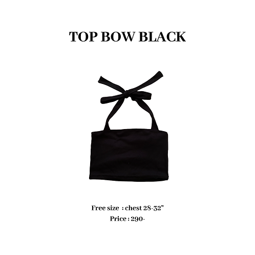 TOP BOW BLACK