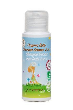Органичен Бебешки Шампоан 2в1 за Коса и Тяло с Инка Инчи, 50мл., Azeta Bio
