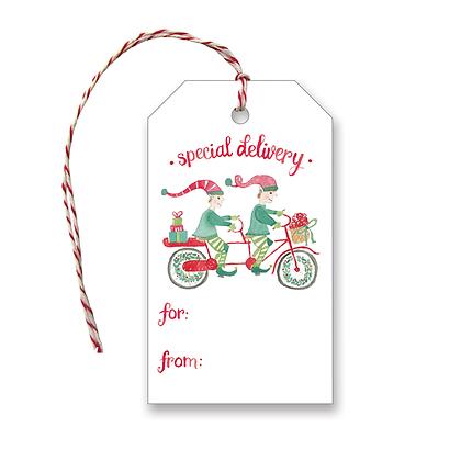 Biking Elves Gift Tags
