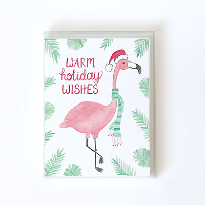 Holiday Flamingo Boxed Holiday Cards