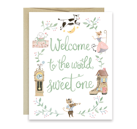 Nursery Rhyme Border Card