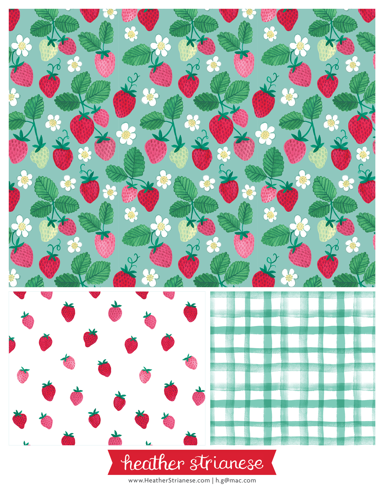 Sweet Strawberries Pattern
