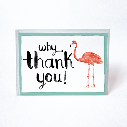 Flamingo Boxed Thank You Cards