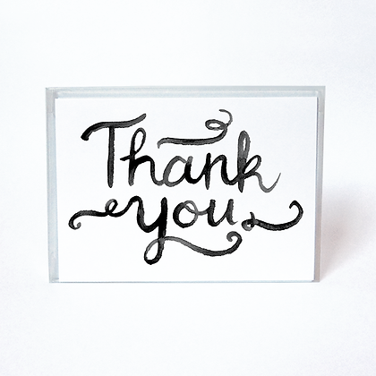 Watercolor Boxed Thank You Cards