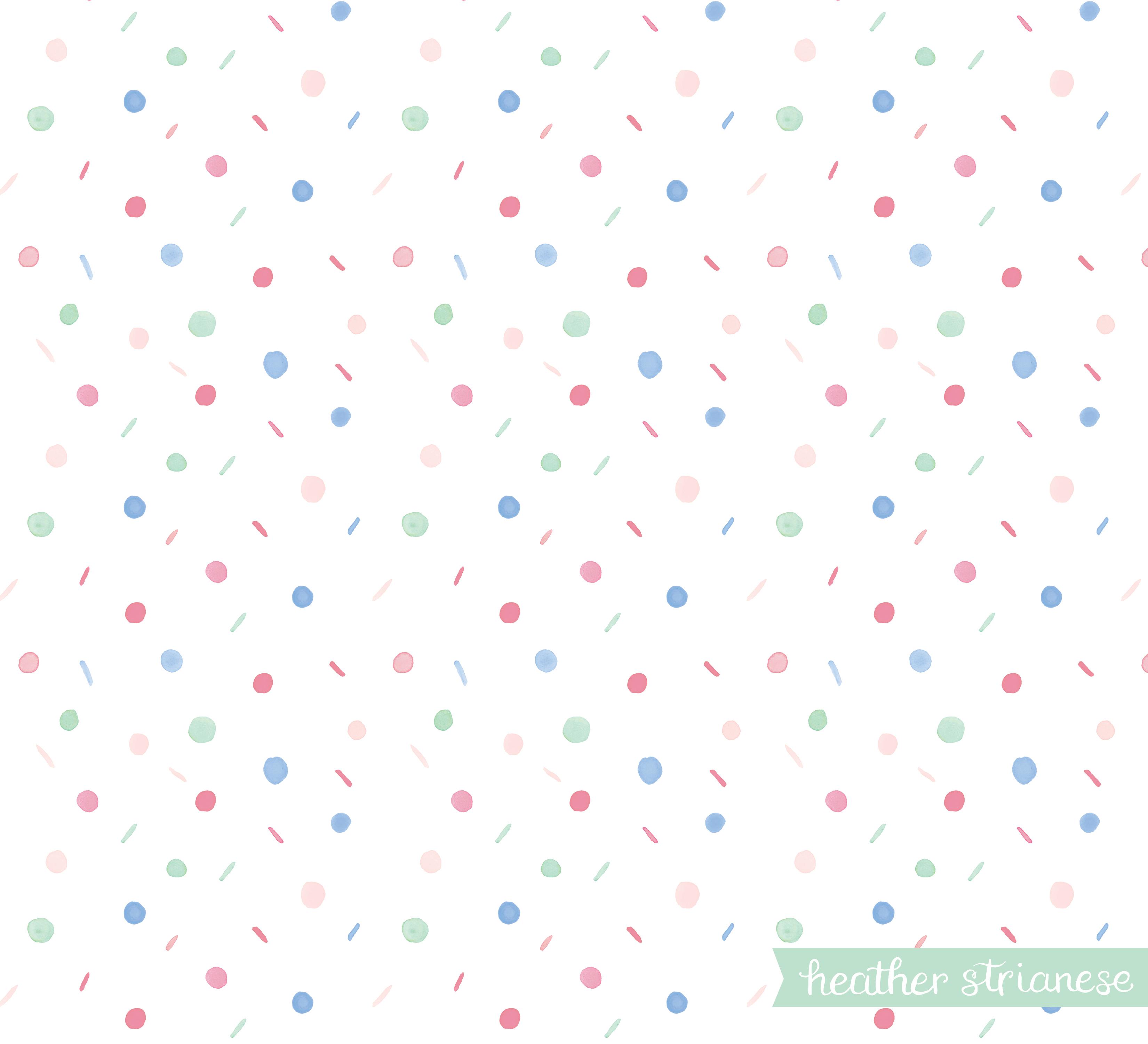 Pastel Confetti Dots Pattern
