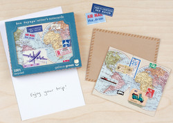 Bon Voyage Recycled Notecards