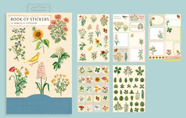 Jardin Botanique Book Of Stickers