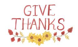 Give Thanks Sunflower Art