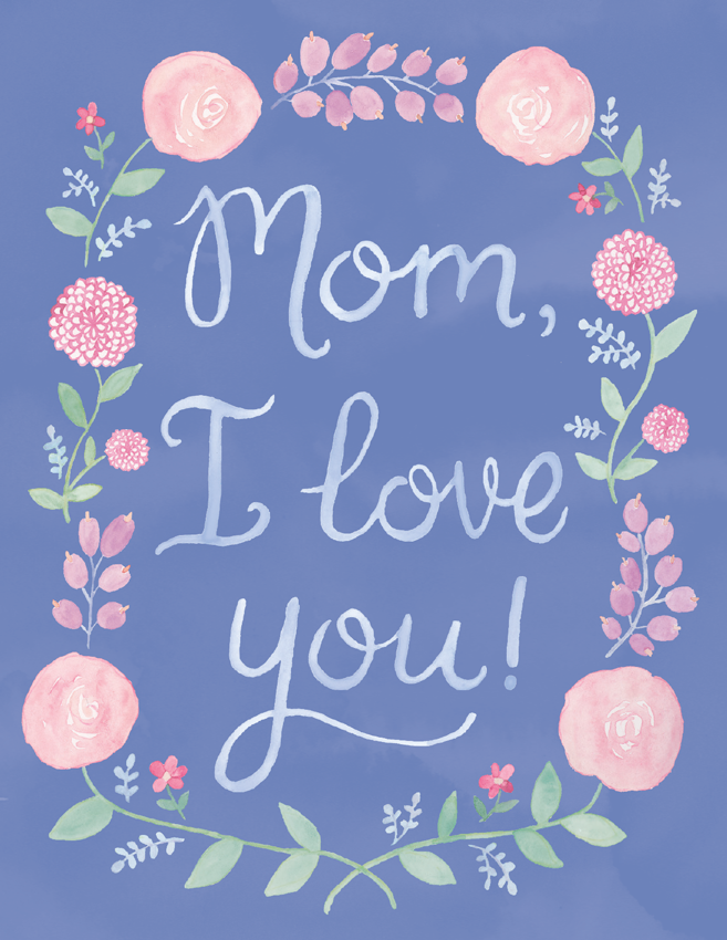 Mom, I love you Floral Wreath
