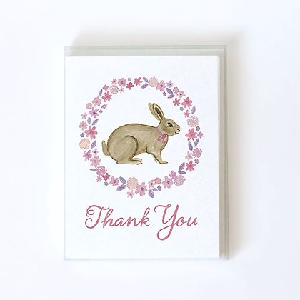 Rabbit Boxed Thank You Cards