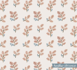 Pink Fall Leaves Pattern