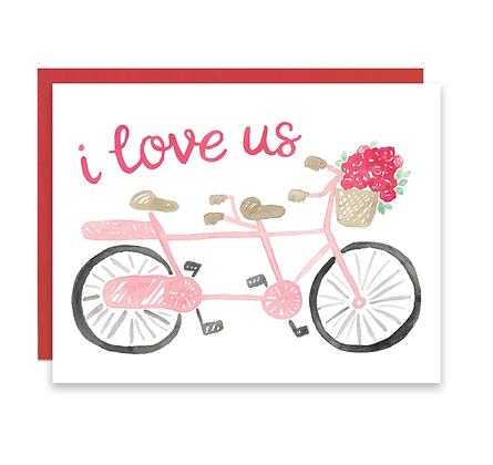 Bicycle I Love Us Card