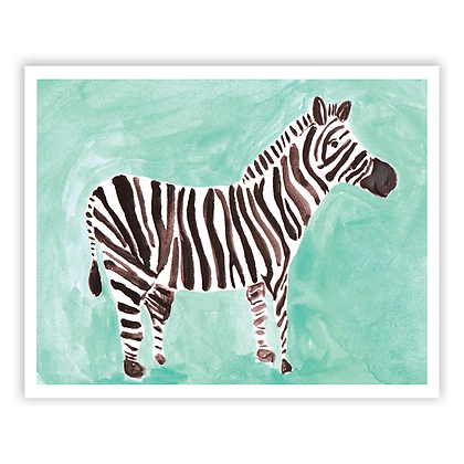 Watercolor Zebra Art Print